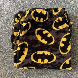 Men's Batman Fuzzy PJ pants. Size M
